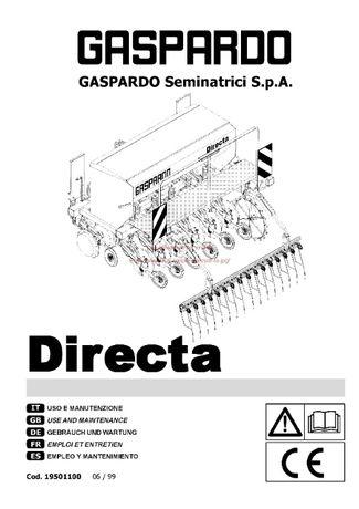 Instrukcja obsługi siewnik GASPARDO Seminatrici S.P.A.