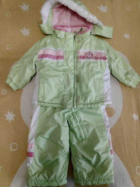 Демисезонная куртка и полукомбинезон для девочки 1-2 года