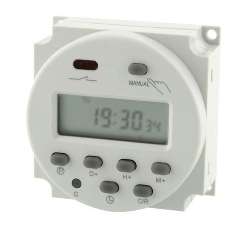 Relógio programador temporizador LCD digital 7 dias (220V / 12V / 24V)