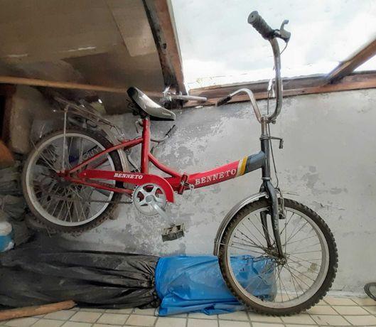 Складной велосипед Benneto BMX + детский велосипед Салют