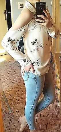 Damska koszula bluzka hiszpanka modna rozm. Uniwersalny