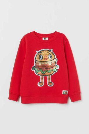 Hit bluza odwracane cekiny TOCA LIFE H&M roz 116 cudowna:)