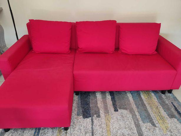 Sofá cama chaise longue com arrumação