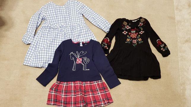 Sukienki dla dziewczynki rozmiar 98, 104