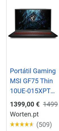 MSI GL73 8SD como novo