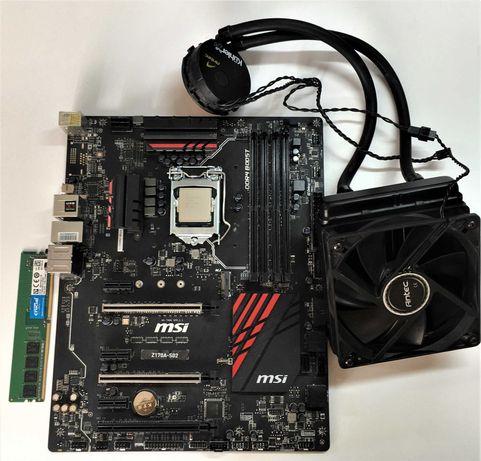 Комплект i5-6400|мамка Z170A-S02|ddr4 4gb|водяне охолодження