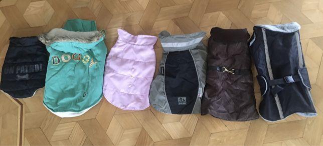 Ubranka dla pieska 5/8 kg rozne cieple rozm dlug na plecach25,30,35,40