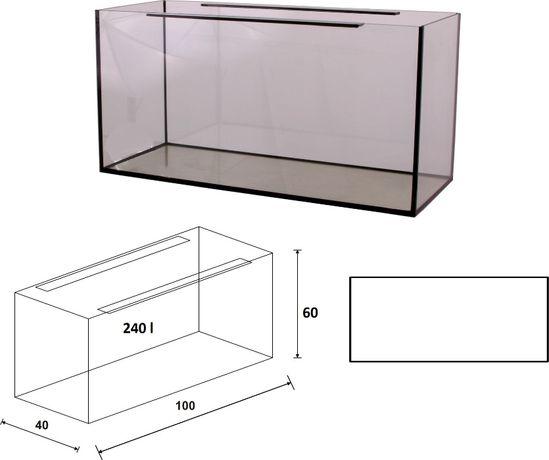 Akwarium 100x40x60 proste 240 litrów