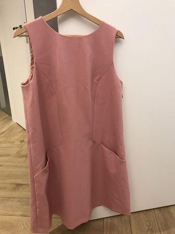 Sukienka ciążowa różowa elegancka simple