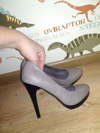 Туфли серо-коричневые 38-39 р