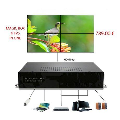 Magic Box P/ 4 TV'S em 1 ecran gigante