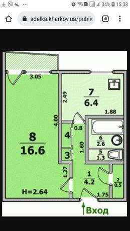 Продам 1ком.квартиру с ремонтом, мебелью и техникой  в 522 м/р  ВА