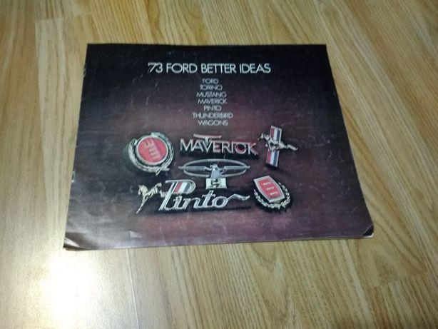 Ford lata '70 Torino, Mustang, Maverick, Pinto, Thunderbird prospekt