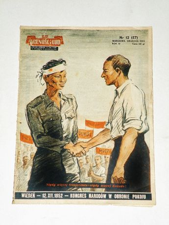 '' Za wolność i lud '', miesięcznik ZBoWiD z PRL, Nr 12 z grudnia 1952