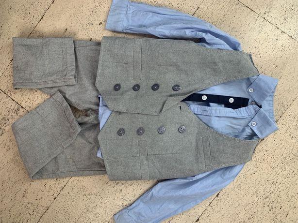 Костюм фирмы Next брюки, рубашка, жилет. Размер 2-3 года. Рост 98 см