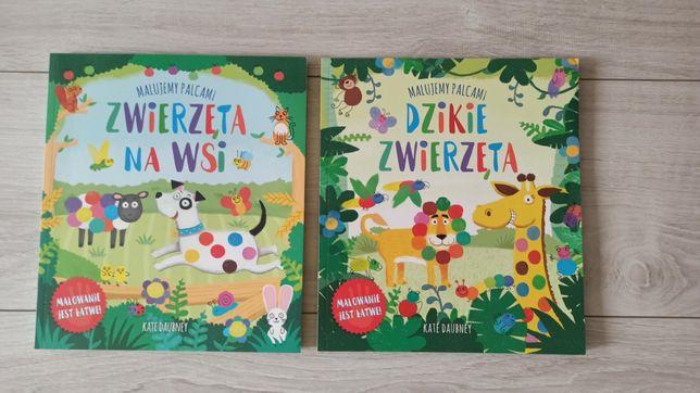 Książeczki Malujemy palcami, zwierzęta na wsi, dzikie zwierzęta