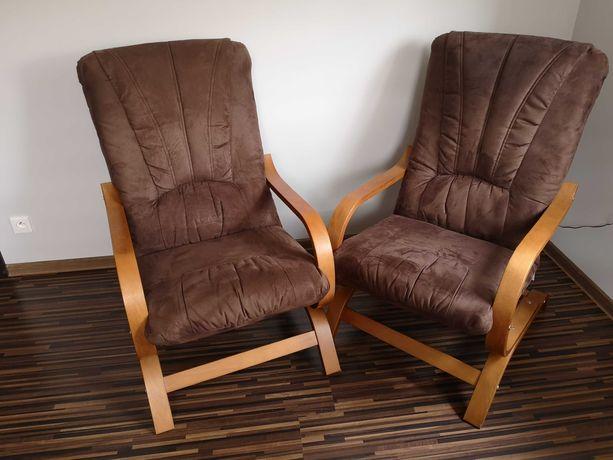 Sprzedam 2 wygodne brązowe fotele