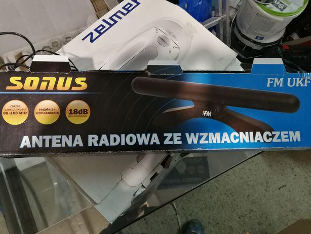 Antena radiowa ze wzmacniaczem