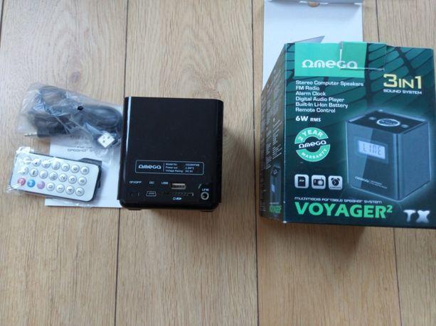 Głośnik/Radio/Odtwarzacz MP3 - Omega Voyager 2 kolor Czarny