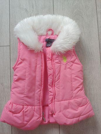 Комплект фирмы Polo (жилетка+кофточка+джинсы) для девочки 2-3 лет.