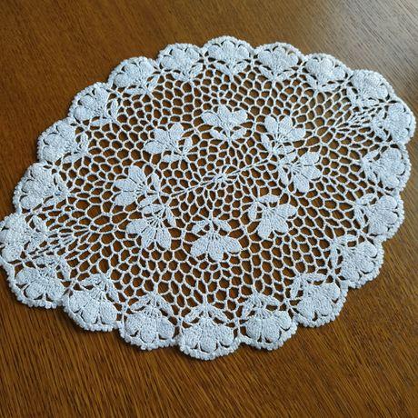 Serwetka na szydełku, rękodzieło, handmade, biała