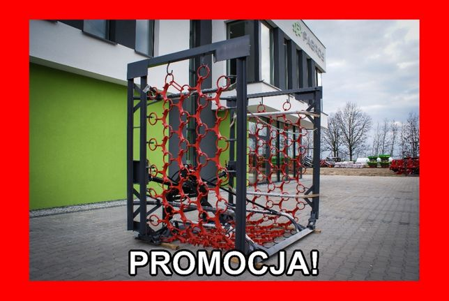*FAGROS* Włóka ŁĄKOWA polowa brona hydrauliczna 3m 4m 5m 6m 8m RABATY!