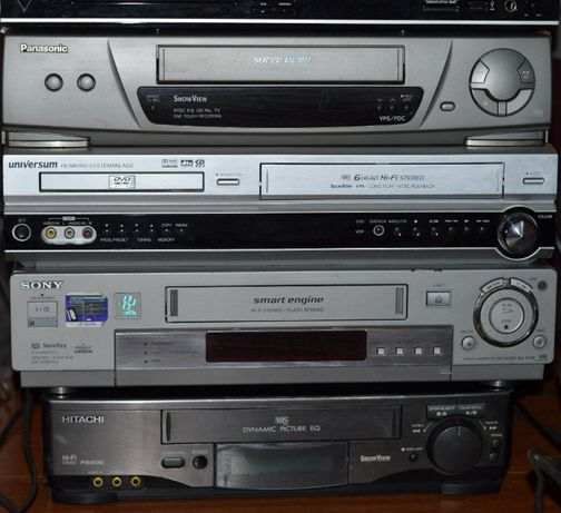 Magnetowid VHS Sony Hitachi Panasonic DVD 6 HEAD HI-FI stereo