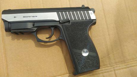 Pistolet na kulki met. Z laserem i bez