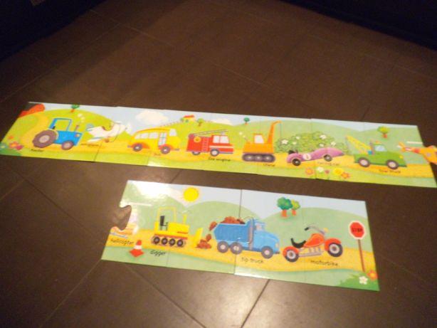 Puzzle z pojazdami duże 12 szt