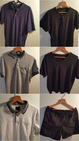 Zestaw eleganckich koszulek + czarne spodenki + 2 paski. Za darmo !