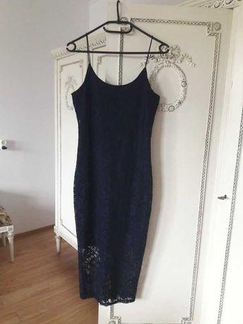 Sukienka New Look na cienkich ramiączkach 38 M mała czarna
