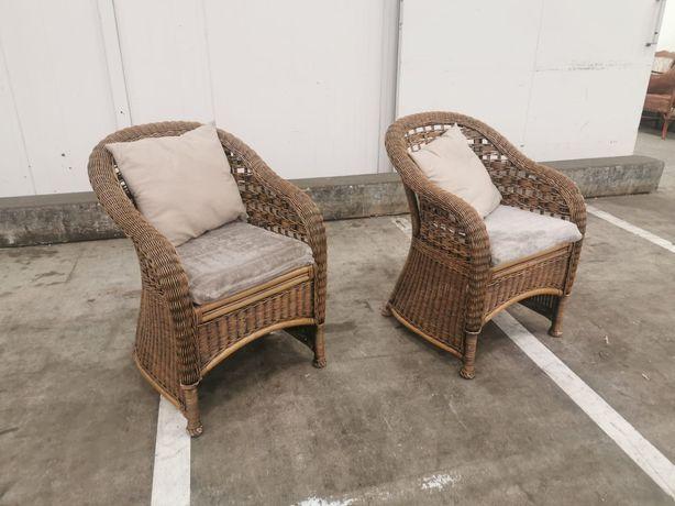 2 fotele rattanowe