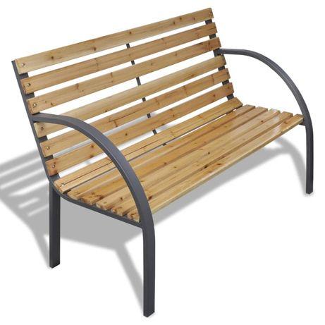 vidaXL Banco de jardim 120 cm madeira e ferro 41014