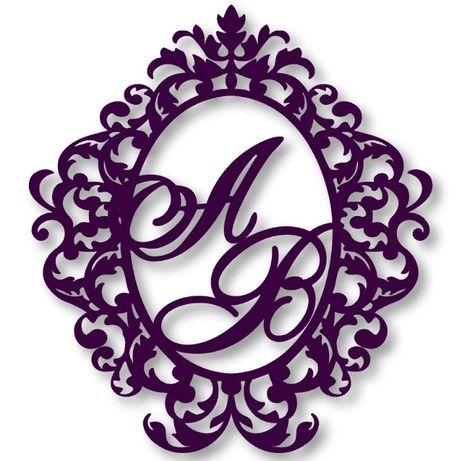 Монограмма, герб из пенопласта на свадьбу