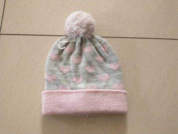 Nowa czapka dla dziewczynki rozmiar 48/50 5.10.15