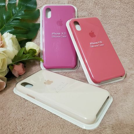 ТОП Чехол для iPhone X-XS. Silicon case ЛЮКС качество