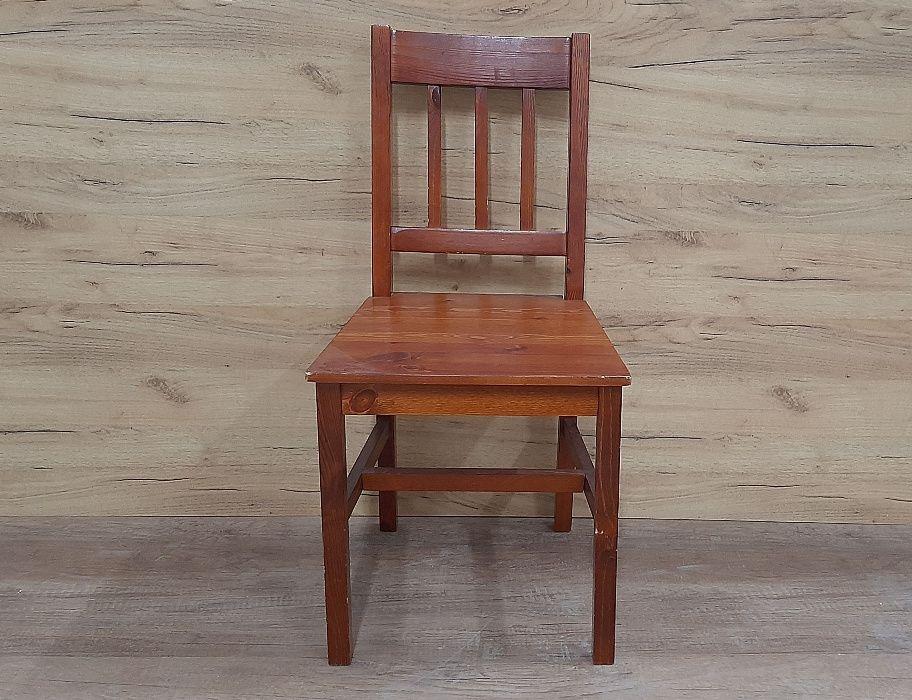 Krzesło drewniane -- lita sosna -- kolor Calvados 1 szt Rudno Górne - image 1