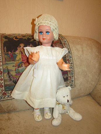 Кукла старинная ярмарочная 74 см Италия красотка в старинном