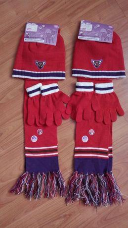 Комплект(шапочка,шарф и перчатки)