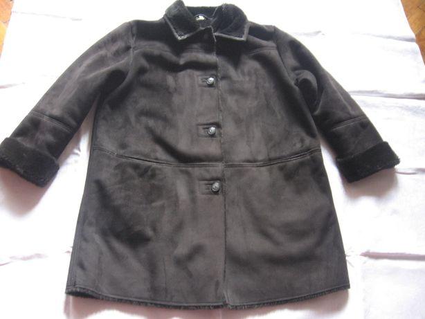 Красивая,комфортная куртка дубленка,весна,осень,цвет черный