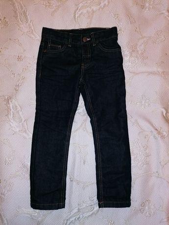 Тёплые джинсы на флисовой подкладке, размер - 110