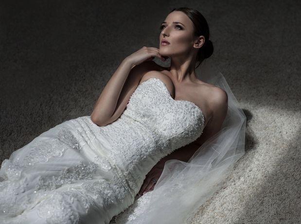 Эксклюзивное дизайнерское свадебное платье айвори ivory осень зима