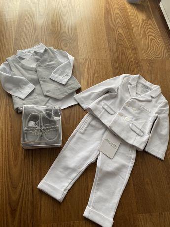 Elegancki zestaw , garnitur Mayoral do chrztu czy na święta