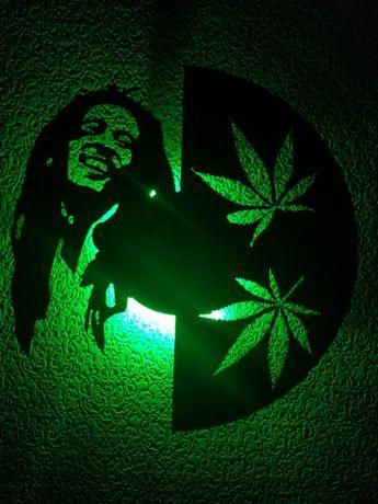 Relógio de Parede em Vinil - Bob Marley