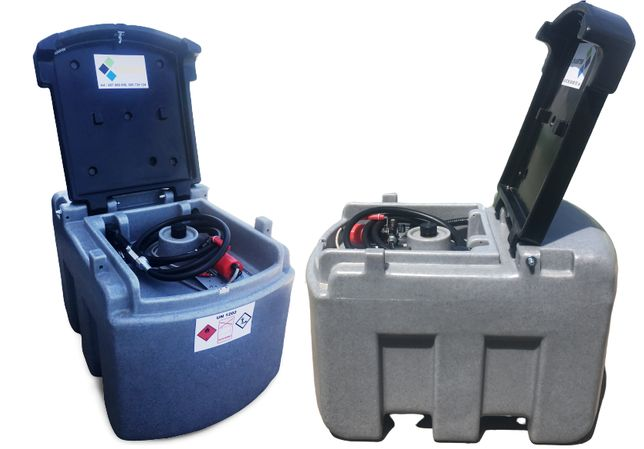 Zbiornik paliwo paliwa 460L mobilny - dwupłaszczowy 1500L 2500L METRIA