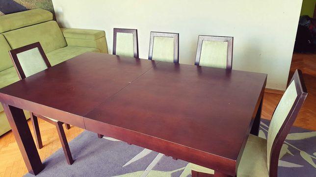 Stół drewniany 160 x 90 cm, rozkładany do 220 x 90 cm