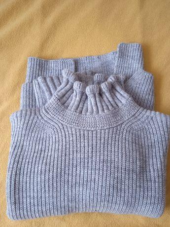 włoski styl Sarah Pacini z alpaką ciepły szary sweter s/m jak nowy