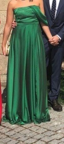 Designer dress Verde esmeralda