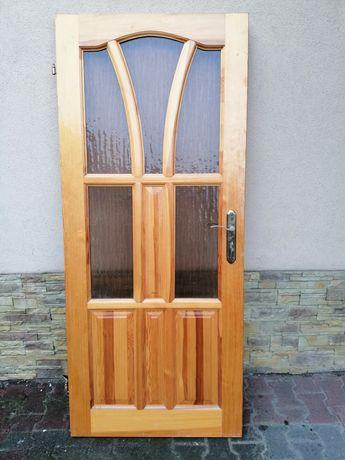 Drzwi sosnowe lewe