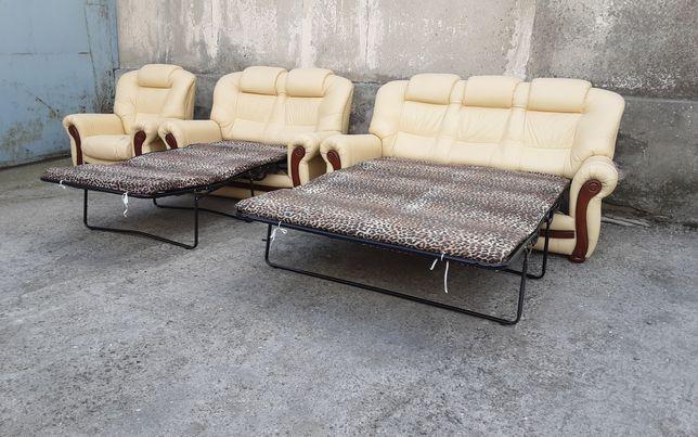 Кожаный раскладной диван! Раскладной, шкiряний диван, мягкая мебель